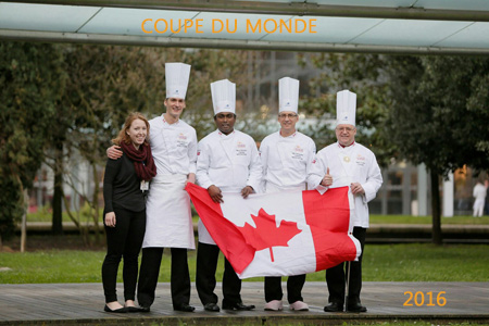 Elien de Herdt, young hope Canada, James Holehouse, artistic piece candidate.  Marius Mariathas, bread candidate.  Alan Dumonceaux, viennese products candidate.  Mario Fortin, coach